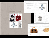Brochure featuring luxury items
