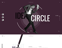 Creative slideshow Website PSD Template