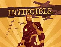 Iron-man Distressed Canvas Poster (Marvel)