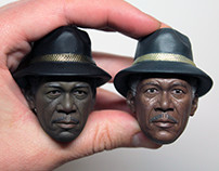 1/6 Morgan Freeman Head Painting