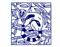 Lemur Screenprint