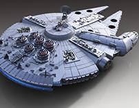Star Wars Millennium Falcon 3D Print Model Assembly Kit