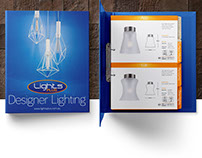 Lights Plus Trade Guide A4 Booklet Brochure Design