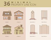 36 Minimal Property Line Icon