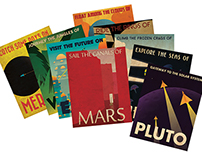 Retro Planetary Travel Posters