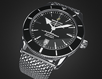 Breitling Superocean Héritage II 3D Model for VR