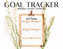 Free Goal Tracker Printable V1