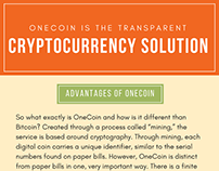 OneCoin is the Transparent Cryptocurrency Solution