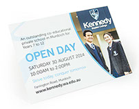 Kennedy Baptist College – Open Day Postcard