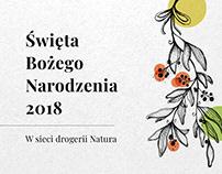 Drogeria Natura - projekt kampanii świątecznej