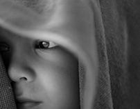 Black and White Kids Portraits