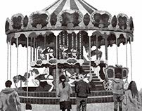 寺地はるな「ほたるいしマジカルランド」(ポプラ社『asta』)挿絵