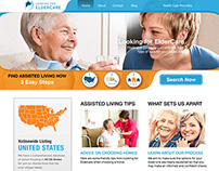 Looking for Eldercare | Web Layout