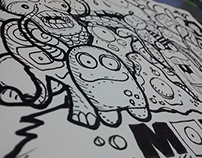 Doodle Monster Face - Wilmai