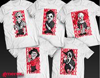 Horror Celebs t-shirts