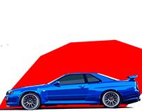 Nissan GTR Skyline R34 - Vetor