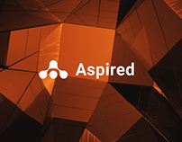 Redesign of corporate identity for «Aspired»