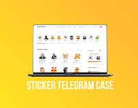 STICKER TELEGRAM CASE / UI/UX DESIGN