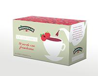 Té verde con frambuesa - Packaging