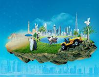 Interface design   Dubai Weather interactive system