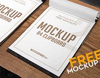 A4 Clipboard – Free PSD Mockup