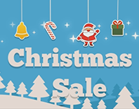 Facebook video Cover for Christmas Sale