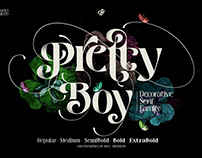 Pretty Boy | Decorative Serif Family