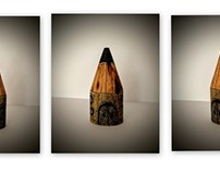 Pencil Kingdom, recycled wood piece