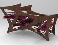 Mid Century Modern Wine Rack