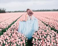 Pink tulip girl