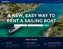 Website design for GoSailPro