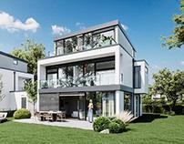 Modern villa estate visualizations - Germany