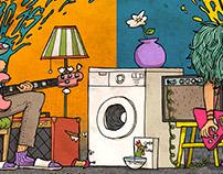 The washing machine diptych