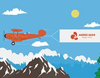 Animação Avião de Mensagem