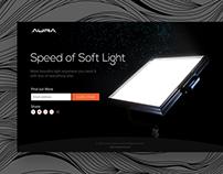 Aura Led Splash page & Business Card