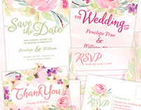 Garden Party Wedding Stationery