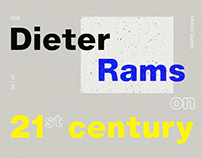M-Q: Dieter Rams on 21st Century
