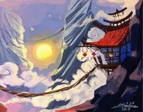 china, digital painting