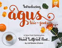 AGUS - HAND LETTERED FONT
