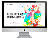 Design concept of the personal portfolio