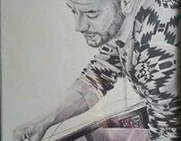 """Dani Antifragil"" BIC ballpen drawing"