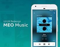 UI/UX Redesign - MEO Music app