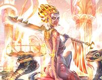 """Warrior"" illustration for Based on Magic"