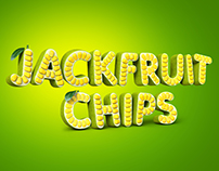 3D typography - Jakcfruit chips
