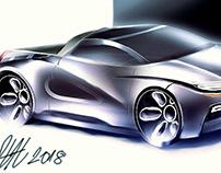 Latest car sketch