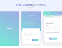 Login & Register App Screen