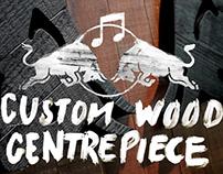 RED BULL MUSIC ACADEMY - Custom Wood Centrepiece