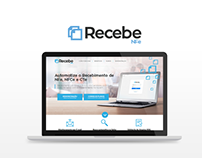 RecebeNFe - Landing Page and Branding