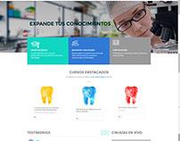 SITIO WEB ODONTOCURSOS DESARROLLO EN WORDPRESS
