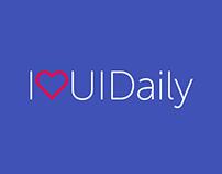 UI Daily #ILOVEUIDAILY